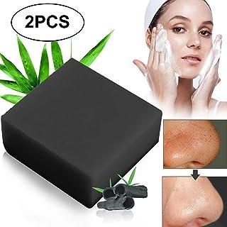 Jabón Carbón de bambú Jabón Negro con Carbón Limpieza Facial y Antibacterial Hecho a Mano con Ingredientes NaturalesMi...
