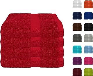 6a5556208b 4er Pack zum Sparpreis Frottier Handtuch in vielen Farben 100% Baumwolle  500 g/m²