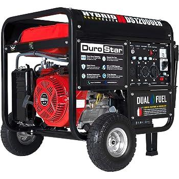Durostar DS12000EH Portable Generator, Red/Black