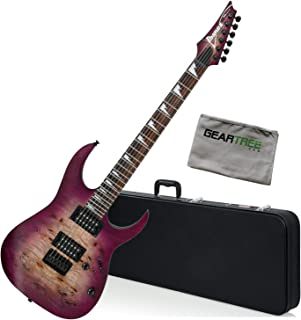 Ibanez RGRT621DPB TPF Transparent Purple Burst RG Standard Guitar Bundle w/Case