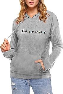 AEURPLT Womens Teen Girls Cute Funny Hoodies Fall Winter Hooded Sweatshirts Fleece Pullover Tops