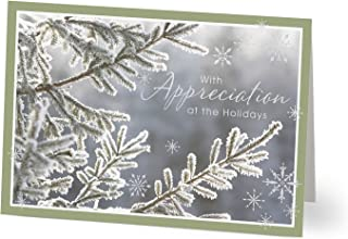 Hallmark Business Holiday Card for Customers (Wintry Morn) (Pack of 25 Greeting Cards)
