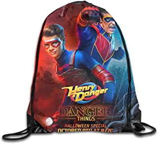 Colegio Bolso Danger TV Show of Henry Backpacks Travel School Bags Shoulder Laptop Bag Computer Bag Business Daypack Schoolbag Book Bag For Men Women Kids