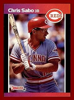 1989 Donruss #317 Chris Sabo RC CINCINNATI REDS ROOKIE