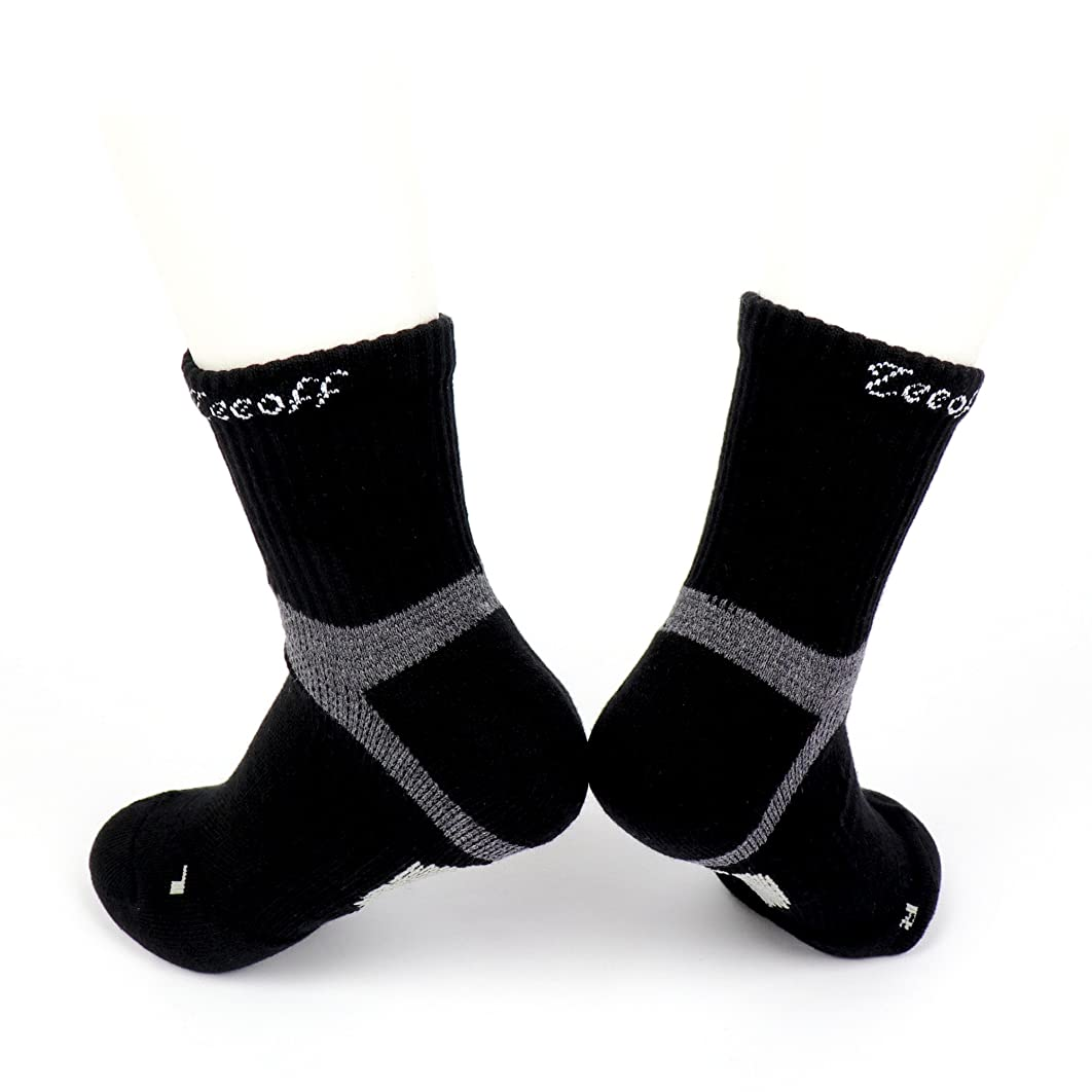 かかわらずマッシュチャンピオンTeeoff Men's LYCRA Sport Sock メンズライクラクッションショックアブソーバー、通気性、アーチ&アンクルサポートスポーツソックス強化
