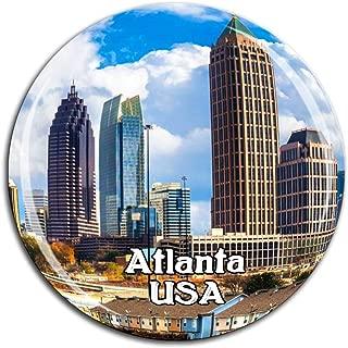Atlanta America USA Fridge Magnet 3D Crystal Glass Tourist City Travel Souvenir Collection Gift Strong Refrigerator Sticker