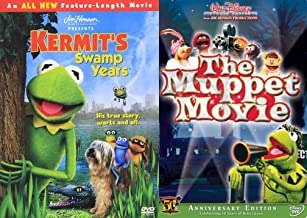 Swamp Green the Muppets Double Feature Kermit 50 Years The Original Movie + The Swamp Kears Jim Henson DVD Frog Miss Piggy...