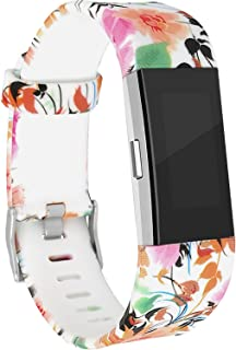 Replacement Bands Compatible with Fitbit Charge 2, Fitbit Charge 2 Accessories Wristbands with Special Floral Edition