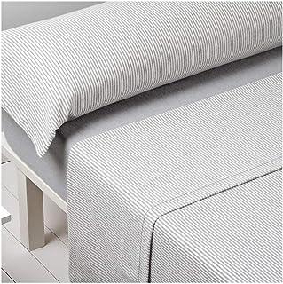 Barceló Hogar 03020300526 Juego de sábanas de franela, modelo Carla, gris, 135 cm
