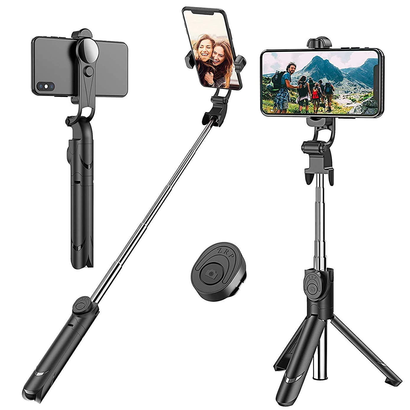 Cell Phone Selfie Stick Tripod,Extendable Monopod with Wireless Remote Shutter, Tripod Stand Compatible with iPhone X/8/8 Plus/7/Samsung Galaxy Note 9/S9/Huawei/Google
