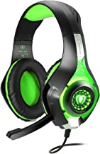 BlueFire 3.5mm PS4 Gaming Headset Headphone with Microphone and LED Light Compatible with Playstation 4, Xbox one, PC (Green)