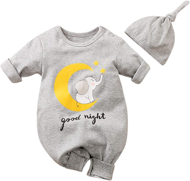 Shan-S Newborn Infant Factory Ranking TOP1 outlet Baby Girls Cartoon Boys Long Sleeve Elepha