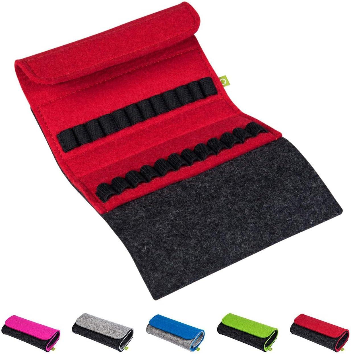 Homöopathische Taschenapotheke Für Globuli Leer Globuli Tasche Für 24 Globuli Röhrchen Glas Handgemacht Aus Echtem Filz Rot Drogerie Körperpflege