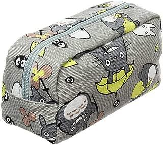 EOLIURR Cute Cartoon Style Zipper Pen Bag Pencil Case Cosmetic Makeup Bag Pouch Stationery Writing Office School Supplies Wallet Holder(Grey)