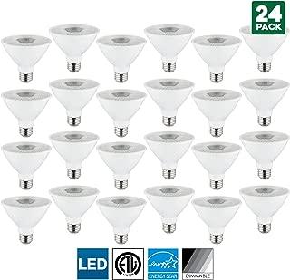 24 Pack Sunlite LED PAR30S Spotlight Bulb, 10 Watt (75 Watt Equivalent), Dimmable, 5000K Super White, 750 Lumens, Medium (E26) Base, Indoor Use, Energy Star Certified