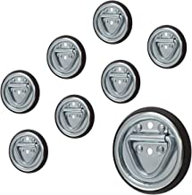 Sierra Pacific Engineering Surface Mount Tiedown Anchors 1,200 lb Capacity 2-Hole D-ring, 8-pack