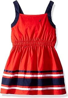 Girls' Solid Sleevless Fashion Dress