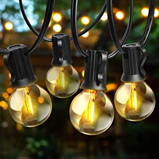 Outdoor String Lights - 48ft LED Globe Patio Lights with 36 G40 LED Bulbs,UL FCC Listed Hanging...