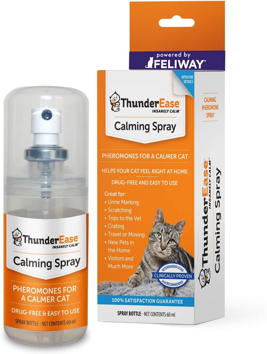 ThunderEase Popular brand Cat Calming Pheromone Spray Powered Cash special price FELIWAY by R