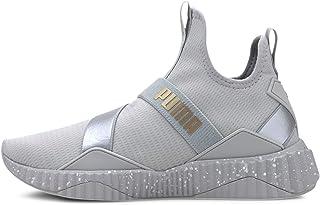 PUMA Women's Defy Mid Sneaker, High Rise-Silver, 7 M US