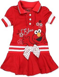 6a17ce5e Sesame Street Elmo Baby Toddler Girls Knit Polo Dress with Collar