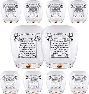 فانوس های چینی (10 بسته ای) فانوس های آسمانی فانوس های کاغذی دوستانه ECO 100٪ زیست تخریب پذیر برای عروسی ، تولد ، یادبودها و موارد دیگر