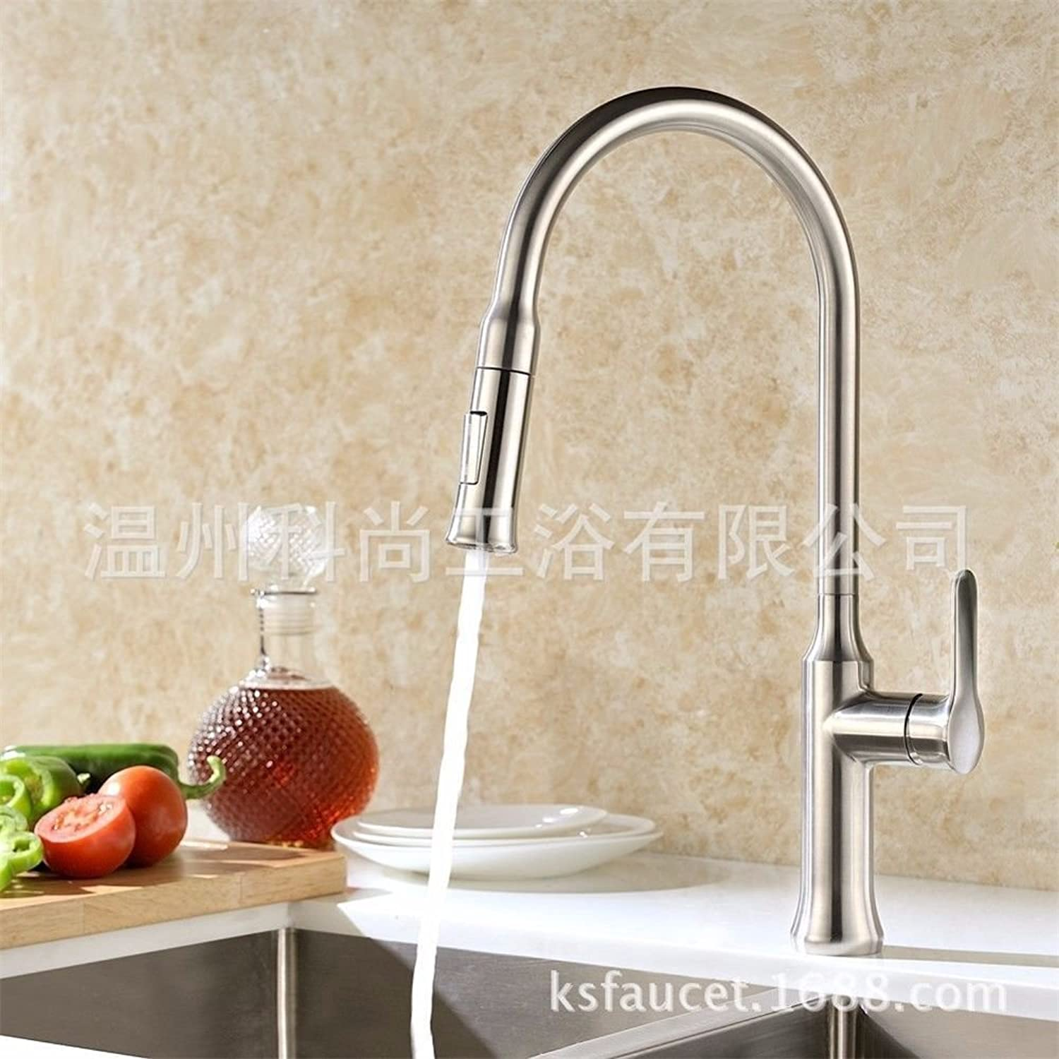 Gyps Faucet Basin Mixer Tap Waterfall Faucet Antique Bathroom The black pull-down kitchen sink faucet features two multi-function shower head brushed Bathroom Tub Lever Faucet