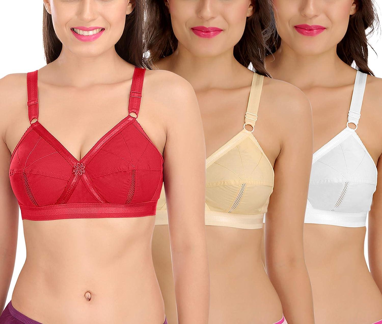 Max 83% OFF SONA Women's Cotton Perfecto Coverage Non-Padded Full Bra Max 67% OFF