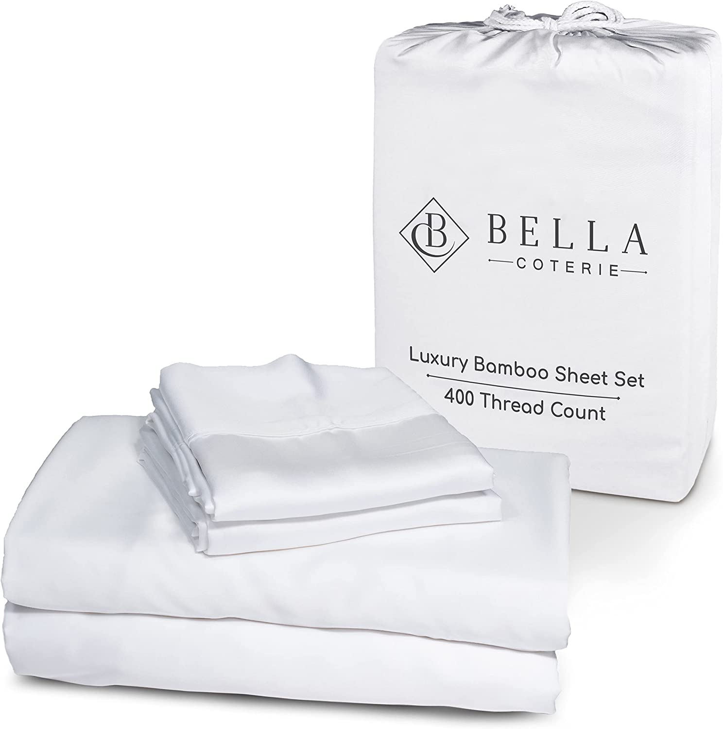 Raleigh Mall Bella Coterie Luxury Bed Sheet Organically Grown Max 74% OFF Set Bamb 100%