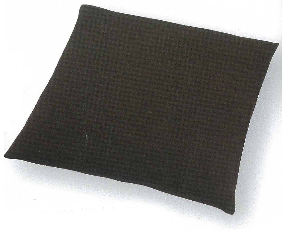 クモはっきりしない才能のあるTMK(ティーエムケイ) ちりめん無地 撥水加工 座布団カバー 銘仙判(55×59cm) こげ茶色 PCE0003-TC