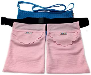 Yesito Mastectomy Drain Drainage Pouch with Shower Bag Drain Surgery Recovery Drainage Pouch Yesito Pink honeycomb lattice