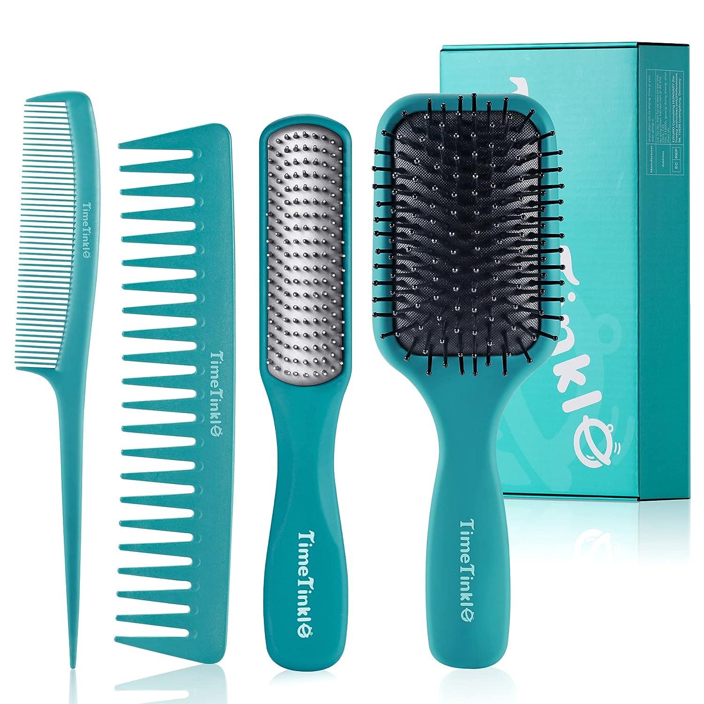 NEW TimeTinkle Rare Hair Brush Set - Styling Comb Detangler Tail
