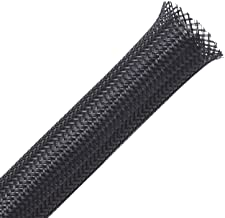 100ft - 1/2 inch PET Expandable Braided Sleeving – Black – Alex Tech braided cable sleeve