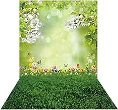 Allenjoy 5x7ft Spring Easter Bokeh Spot Photo Backdrop Green Grass Lawn Garden Flower Photography Background Baby Girl Kids Children Portrait Party Decorations Banner Photobooth Studio Props