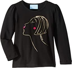 Long Sleeve Face Printed T-Shirt (Toddler/Little Kids)