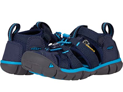 KEEN Kids Seacamp II CNX (Toddler/Little Kid) (Black Iris/Vivid Blue) Boys Shoes