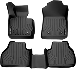 SMARTLINER Custom Fit Floor Mats 2 Row Liner Set Black for 2011-2017 BMW X3