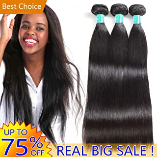 Unprocessed Brazilian Human Hair 3 Bundles Straight Cheap Peruvian Remy Hair extensions Products Best Indian 8A Virgin Hair Weave Natural Black Color Real Malaysian Hair Weft Factory 10 10 10 Inches
