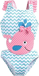 Baby Girls One-Piece Swimsuit Cute Swimwear Flamingo Bathing Suit Outfits