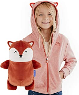 CUBCOATS Flynn The Fox - 2-in-1 Transforming Hoodie and Soft Plushie - Burnt Orange