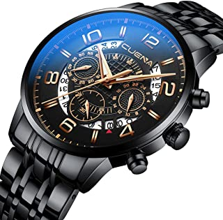 Men's Fashion Sport Watches Chronograph Waterproof Casual Dress Stainless Steel Wristwatch