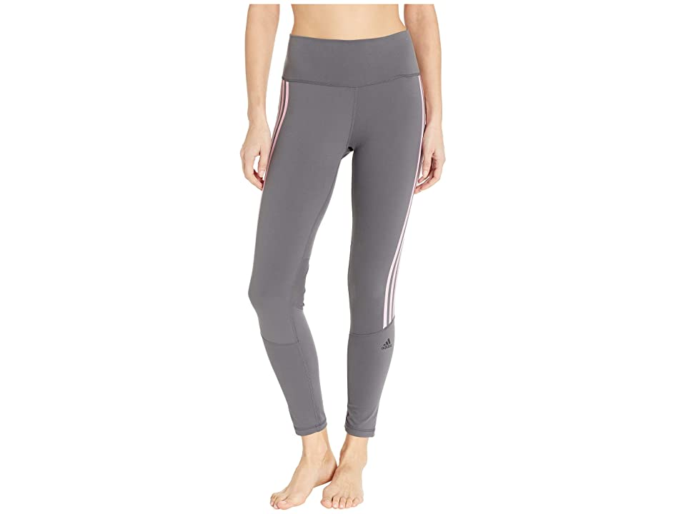 adidas Believe This High-Rise 3-Stripes 7/8 Tights (Grey Six/True Pink) Women