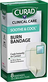 CURAD Soothe & Cool Burn Bandages, Instant Cooling, 1.8