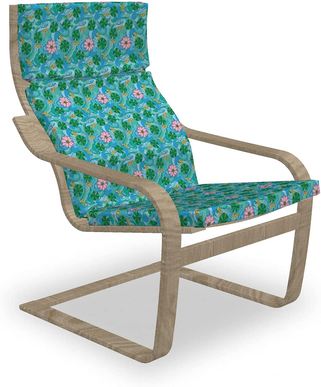 Ambesonne Floral Armchair Pad and Directly Weekly update managed store Slipcover Compo Themed Nature