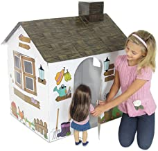 Emily Rose Incredible Colorful Dollhouse or Kid's Play House   Includes Functioning Door, Window and Roof Hatch! (Farm Hou...