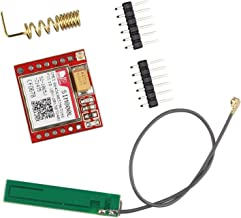 HALJIA SIM800L Red GPRS cuatribanda GSM módulo Breakout puerto serie TTL con Micro SIM Tarjeta antena IPEX interfaz Compatible con Arduino Raspberry Pi brazo MCU