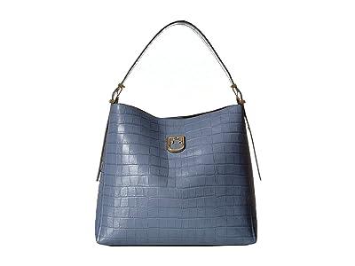 Furla Belvedere Medium Hobo (Piombo) Handbags