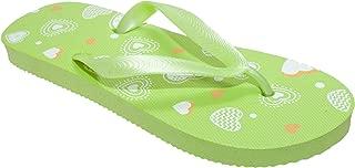 FLOSO Childrens/Kids Girls Heart Flip Flops