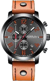 Men's Watch Quartz Analog Unique Business, Casual Fashion Design,Chronograph Waterproof, Comfortable Band