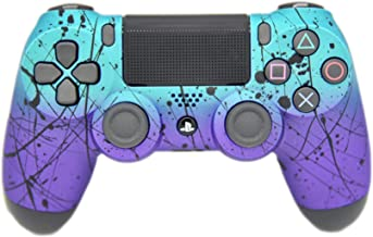 Hand Airbrushed Fade Playstation 4 Custom Controller (Matte Teal & Purple)